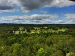 Western view over the golf course from Enger Tower.